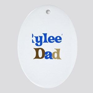 Rylee's Dad Oval Ornament