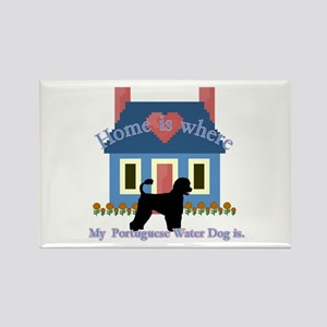 Portuguese Water Dog Rectangle Magnet (10 pack)