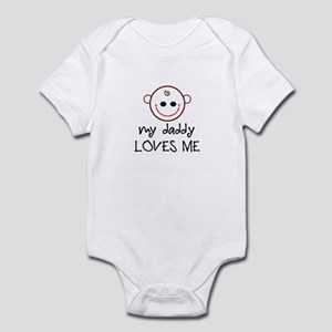 My daddy loves me baby face Infant Bodysuit