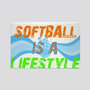 Softball is a lifestyle Rectangle Magnet