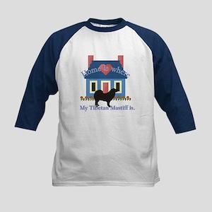 Tibetan Mastiff Home Is Kids Baseball Jersey