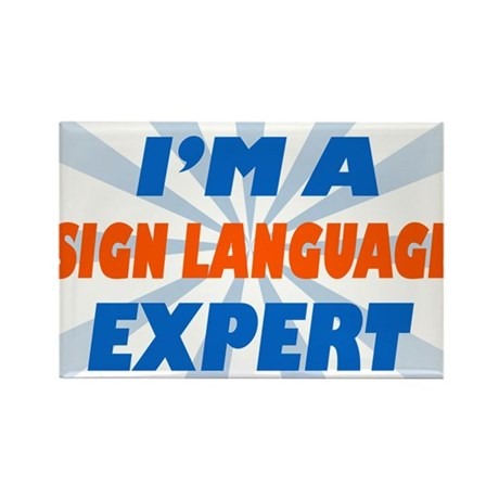 im a sign language expert Rectangle Magnet (10 pac