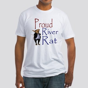 Proud River Rat Poker Fitted T-Shirt