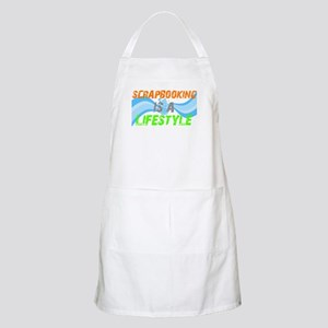 Scrapbooking is a lifestyle BBQ Apron