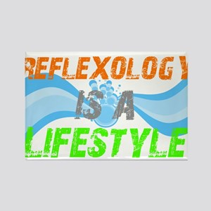 Reflexology is a lifestyle Rectangle Magnet