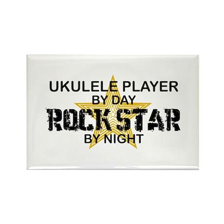 Ukulele Player Rock Star Rectangle Magnet