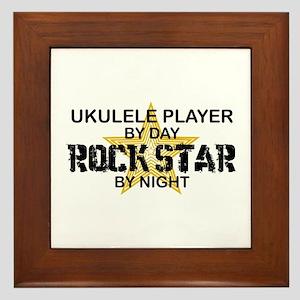 Ukulele Player Rock Star Framed Tile