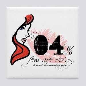 Few Are Chosen Redhead Tile Coaster