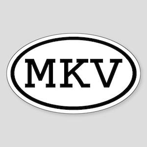 MKV Oval Oval Sticker