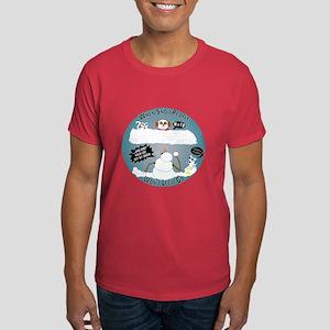 Snowpeople Wall Dark T-Shirt