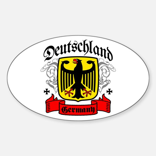 Deutschland Coat of Arms Oval Decal