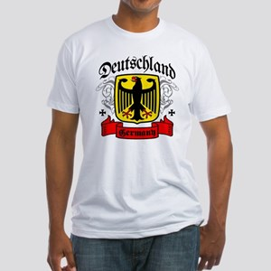 Deutschland Coat of Arms Fitted T-Shirt