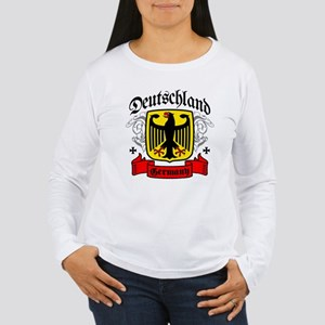 Deutschland Coat of Arms Women's Long Sleeve T-Shi