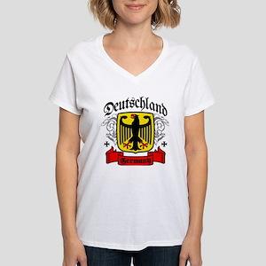 Deutschland Coat of Arms Women's V-Neck T-Shirt