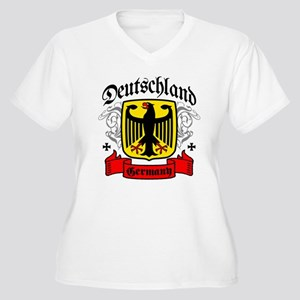 Deutschland Coat of Arms Women's Plus Size V-Neck