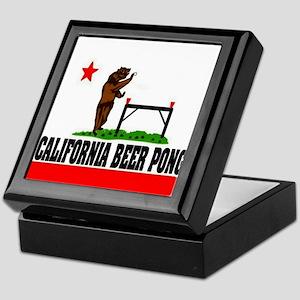 """California Beer Pong"" Keepsake Box"