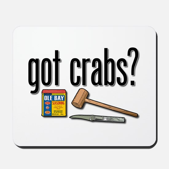 """got crabs?"" Mousepad"