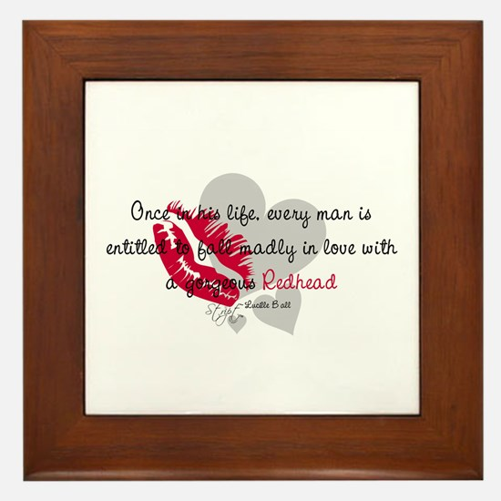 Redhead Quote Framed Tile