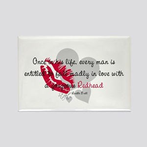 Redhead Quote Rectangle Magnet