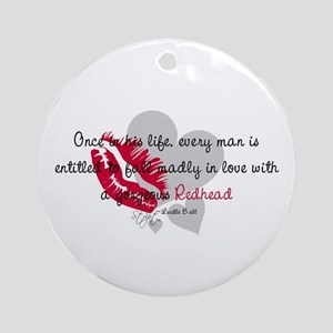 Redhead Quote Ornament (Round)
