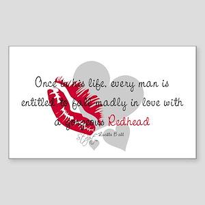 Redhead Quote Rectangle Sticker