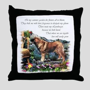 Leonberger Art Gifts Throw Pillow