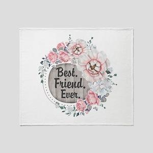 Custom Best. Ever. Personalized Throw Blanket