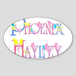 PHOENIX HAYLEY Oval Sticker