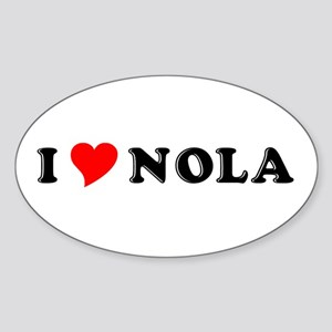 Nola Oval Sticker