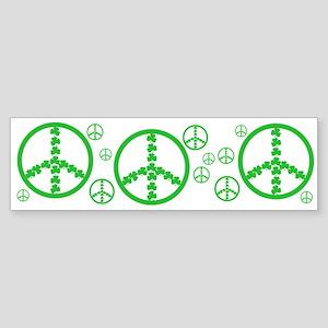 Peace symbol Irish Bumper Sticker