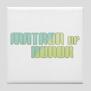Coastal Matron of Honor Tile Coaster