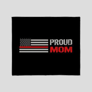 Firefighter: Proud Mom (Black) Throw Blanket