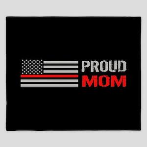 Firefighter: Proud Mom (Black) King Duvet