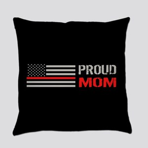 Firefighter: Proud Mom (Black) Everyday Pillow