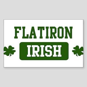 Flatiron Irish Rectangle Sticker