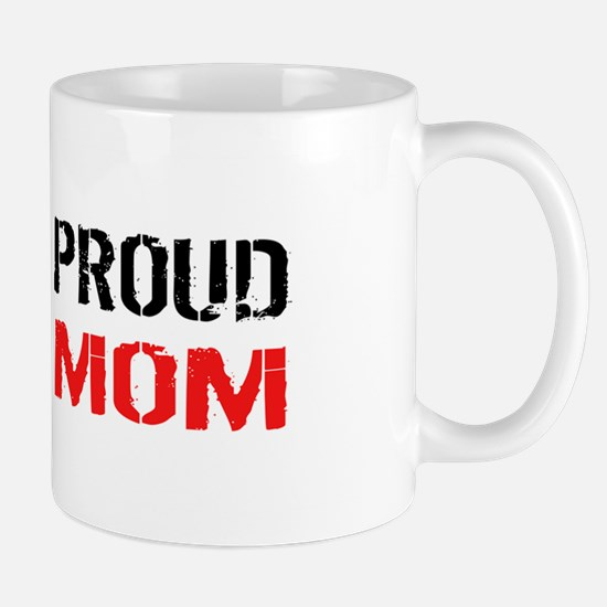 Firefighter: Proud Mom (White) Mug