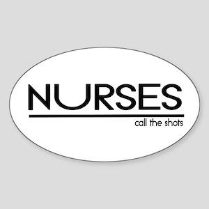 Nurse Joke Oval Sticker