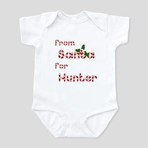 From Santa For Hunter Infant Bodysuit