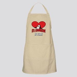 65th Celebration BBQ Apron