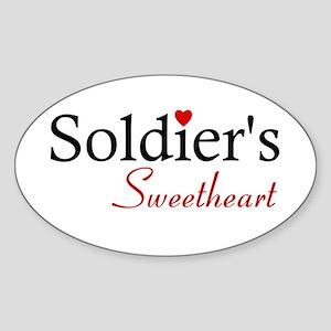 Soldier's Sweetheart Oval Sticker
