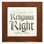 Proud Member of the Religious Right Framed Tile