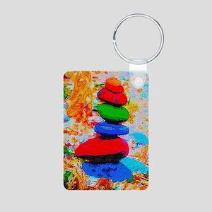 Stacked Rainbow Rocks Zen Keychains