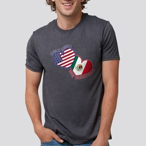 Made in America with Mexica Mens Tri-blend T-Shirt