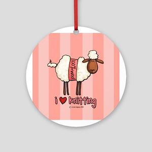 i love knitting Ornament (Round)