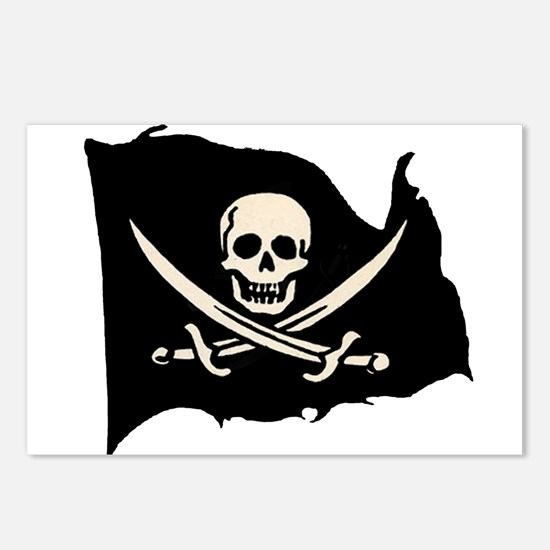Calico Jack Pirate Flag Postcards (Package of 8)