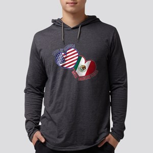 Made in America with Mexican Par Mens Hooded Shirt