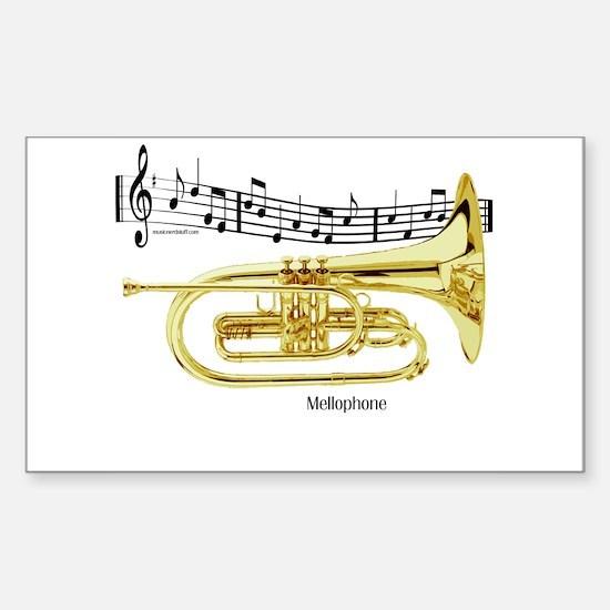 Mellophone Music Rectangle Decal