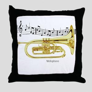 Mellophone Music Throw Pillow