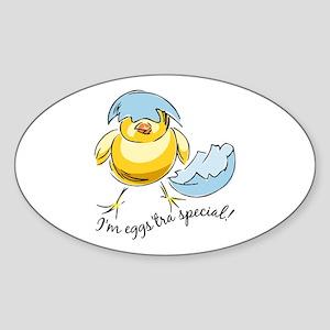 Eggstra Special Oval Sticker