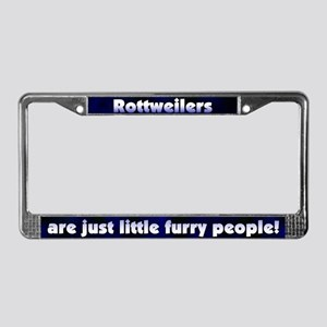 Furry People Rottweiler License Plate Frame
